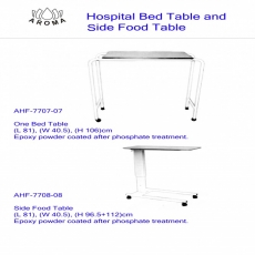 Hospital Bed Table And Side Food Table