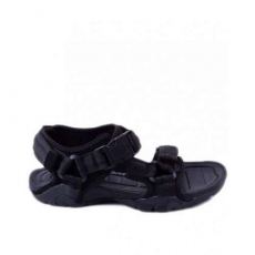 Oasis Black - Synthetic Rubber Sandals For Men classy quality