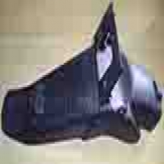 Motorcycle Rear Fender Black Outer