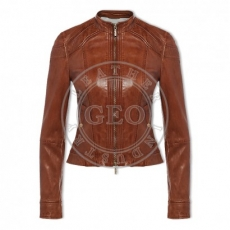 Fashion Leather Jackets Young Woman Vogue