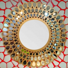 Leaf Wood Mirror